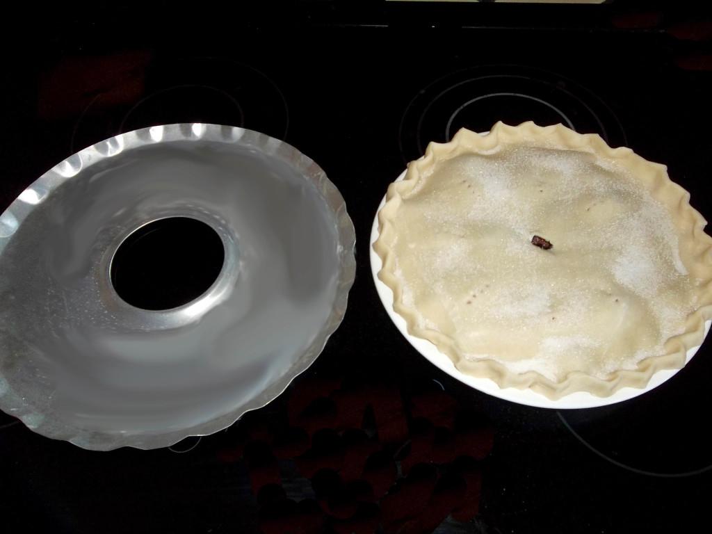 cherry berry pie ready to bake