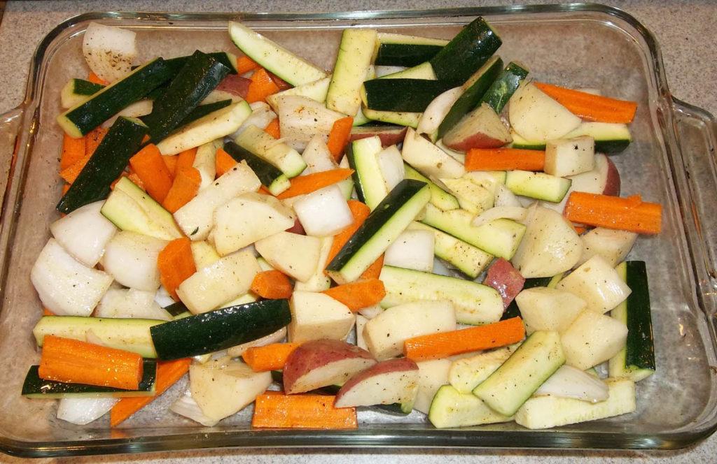 veggies ready to roast